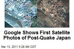 Google Shows First Satellite Photos of Post-Quake Japan