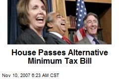 House Passes Alternative Minimum Tax Bill