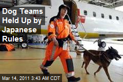 Dog Search Teams Held Up by Japanese Rules