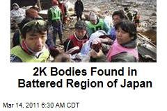 2K Bodies Found in Battered Miyagi Region After Japan Quake and Tsunami