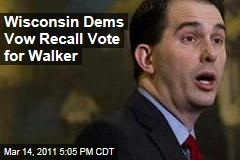 Wisconsin Democrats, Unions Vow Scott Walker Recall Vote