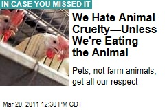Mark Bittman on Animal Cruelty: We Can't Kick a Dog, but We Can Torture Farm Animals