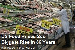 US Food Prices See Biggest Rise in 36 Years