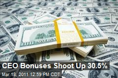 CEO Bonuses Shoot Up 30.5%