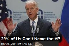 29% of Us Can't Name VP