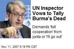 UN Inspector Vows to Tally Burma's Dead