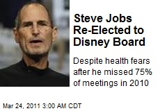 Steve Jobs Re-Elected to Disney Board