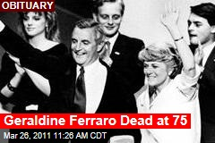Geraldine Ferraro, the First Woman to Run for Vice President, Is Dead at 75
