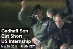 Gadhafi Son Khamis Was in US on Internship