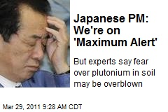 Japanese PM: We're on 'Maximum Alert'