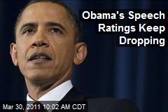 Obama's Speech Ratings Keep Dropping