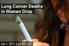 Lung Cancer Deaths in Women Drop