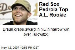 Red Sox Pedroia Top A.L. Rookie