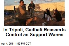 Libya Protests: In Tripoli, Moammar Gadhafi Reasserts Control Even as Support Wanes