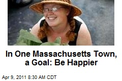 In One Massachusetts Town, a Goal: Be Happier