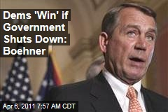 Government Shutdown Looms Larger as No Compromise Is Reached; John Boehner Says Democrats 'Win' if Shutdown Happens