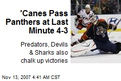 'Canes Pass Panthers at Last Minute 4-3
