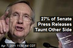27% of Senate Press Releases Taunt Other Side