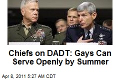 Chiefs: DADT Repeal Going Better Than Expected