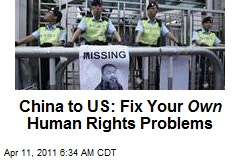 China to US: Fix Your Own Human Rights Problems