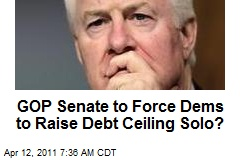 GOP Senate to Force Dems to Raise Debt Ceiling Solo?