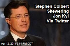 Stephen Colbert Tweets to Hashtag Ridiculing Senator Jon Kyl's Comments on Planned Parenthood