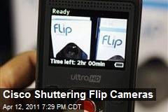 Cisco Shuttering Flip Cameras