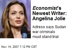 Economist 's Newest Writer: Angelina Jolie