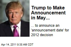 Donald Trump Announces Vague Upcoming Announcement About Future Presidential Announcement