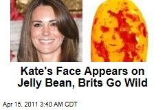 Kate's Face Appears on Jelly Bean, Brits Go Wild