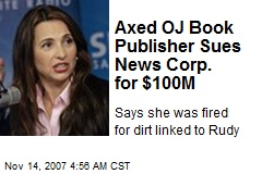 Axed OJ Book Publisher Sues News Corp. for $100M