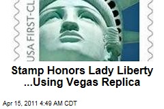 Post Office Uses Vegas Liberty for New Stamp