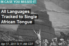 All Languages Tracked to Single African Tongue