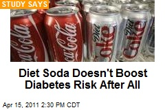 Diet Soda Doesn't Boost Diabetes Risk After All