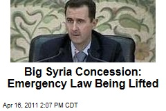 Syria to Life Emergency Law After Nearly 50 Years, Says President Bashar al-Assad