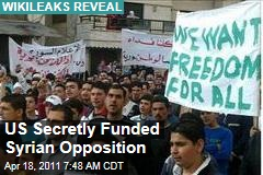 WikiLeaks Diplomatic Cables: US State Department Secretly Funded Syria Opposition