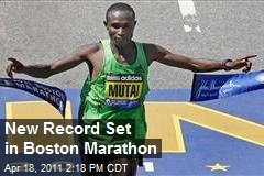 New Record Set in Boston Marathon