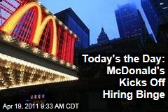 McDonald's National Hiring Day Begins