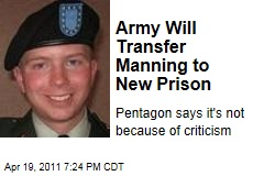 Army Is Transferring WikiLeaks Suspect Bradley Manning From Quantico to Fort Leavenworth