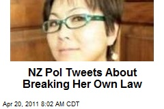 NZ Pol Tweets About Breaking Her Own Law