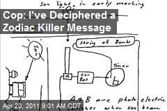 Cop: I've Deciphered a Zodiac Killer Message