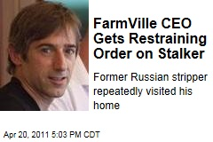 Zynga CEO Mark Pincus, Creator of Farmville, Gets Restraining Order Against Female Stalker