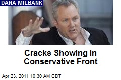 Cracks Showing in Conservative Front