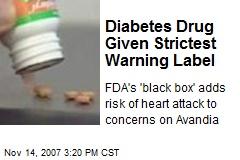 Diabetes Drug Given Strictest Warning Label