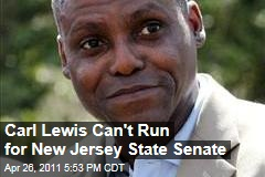 Carl Lewis Cannot Run for New Jersey State Senate, Declares Lieutenant Governor