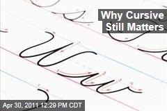 Why Cursive in Schools Still Matters