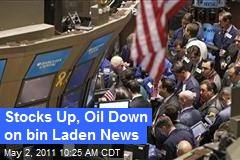 Stocks Up, Oil Down on bin Laden News