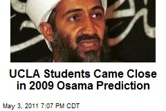 UCLA Students Came Close in 2009 Osama Prediction