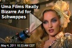 Uma Thurman Films Really Bizarre Ad for Schweppes Ginger Ale