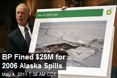 BP Fined $25M for 2006 Alaska Spills